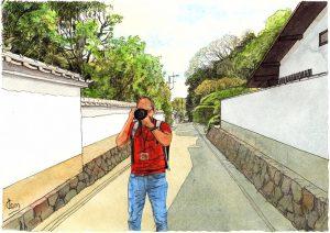 台風19号の中で描いた絵
